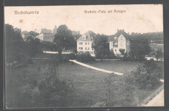 AK-Bischofswerda-Bischofs-Platz-mit-Anlagen-1922