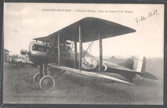 Carte Postale Aviation Militaire, Nieuport Delage, Type 29 (Appareil d