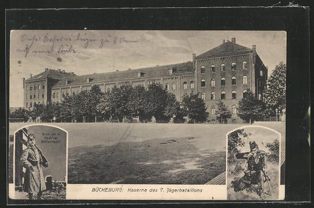 tolle-AK-Bueckeburg-Kaserne-des-7-Jaegerbataillons-1917