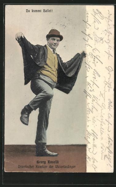 alte-AK-Georg-Ruselli-drastischer-Komiker-der-Victoriasaenger-1909