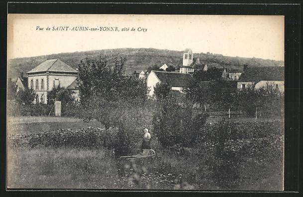 CPA-Saint-Aubin-sur-Yonne-vue-partielle