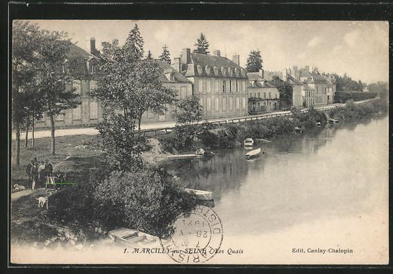 CPA-Marcilly-sur-Seine-Les-Quais-aerienne