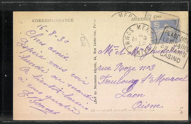 CPA-Mers-Place-du-Marche-1930