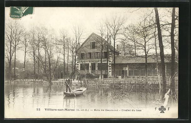 Formidable CPA Villiers SUR Marne Bois DE Gaumont Chalet