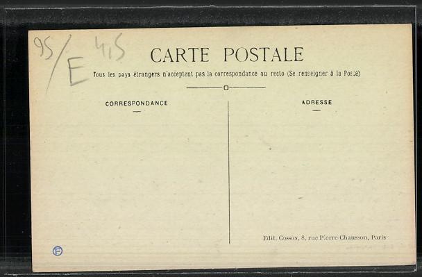 CPA-Domont-La-Mairie-vue-frontale-Pompe-Aincendie