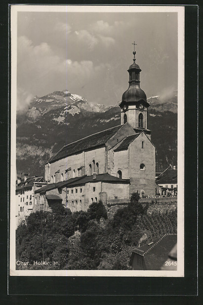 AK Chur, Blick auf Hofkirche 1937 - Berlin, Deutschland - AK Chur, Blick auf Hofkirche 1937 - Berlin, Deutschland