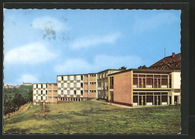 Ansichtskarte-Bad-Wildungen-Staedtisches-Kurheim-Helenenheim