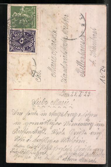Foto-AK-RPH-SBW-Nr-6799-6800-Mignon-Maedchen-im-Gebet-1923