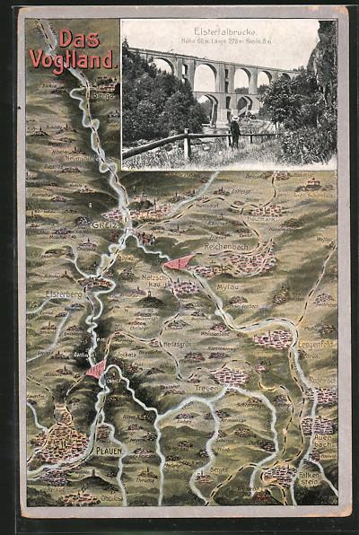 AK-Joessnitz-Landkarte-Blick-zur-Elstertalbruecke
