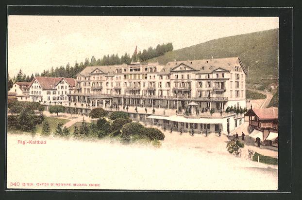 AK-Rigi-Kaltbad-Partie-am-Grand-Hotel