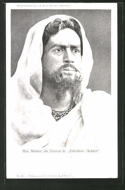 AK Schauspieler Max Montor als Hassan in Ruhmlose Helden