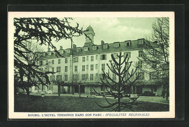 CPA-Bourg-l-Hotel-Terminus-dans-son-parc